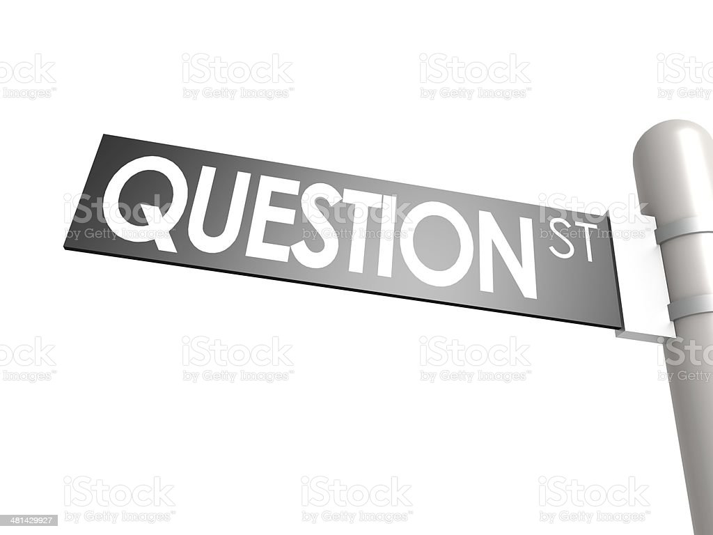 Question street sign stock photo