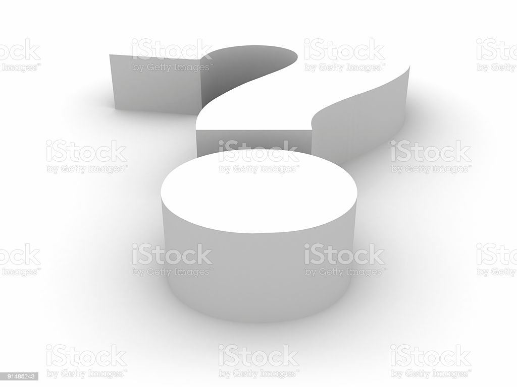 Question Symbol royalty-free stock photo