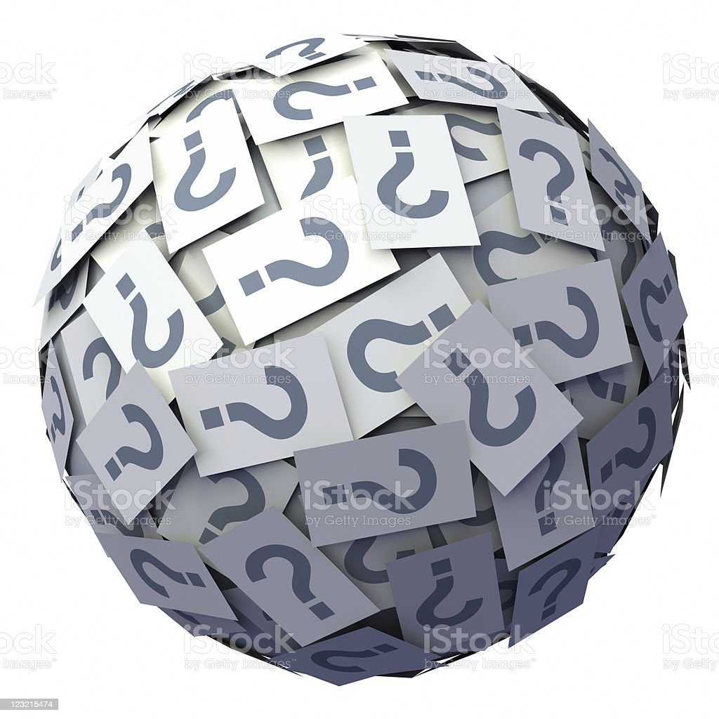 Question symbols ball stock photo