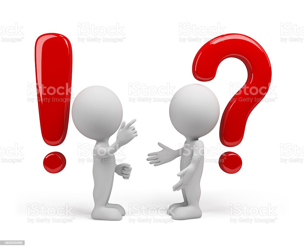 Question - the answer stock photo