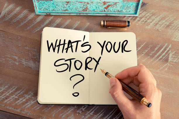 question what is your story ? - creativity stock photos and pictures