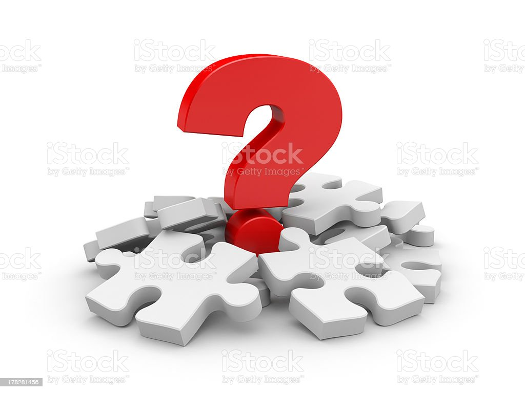 Question with puzzles royalty-free stock photo