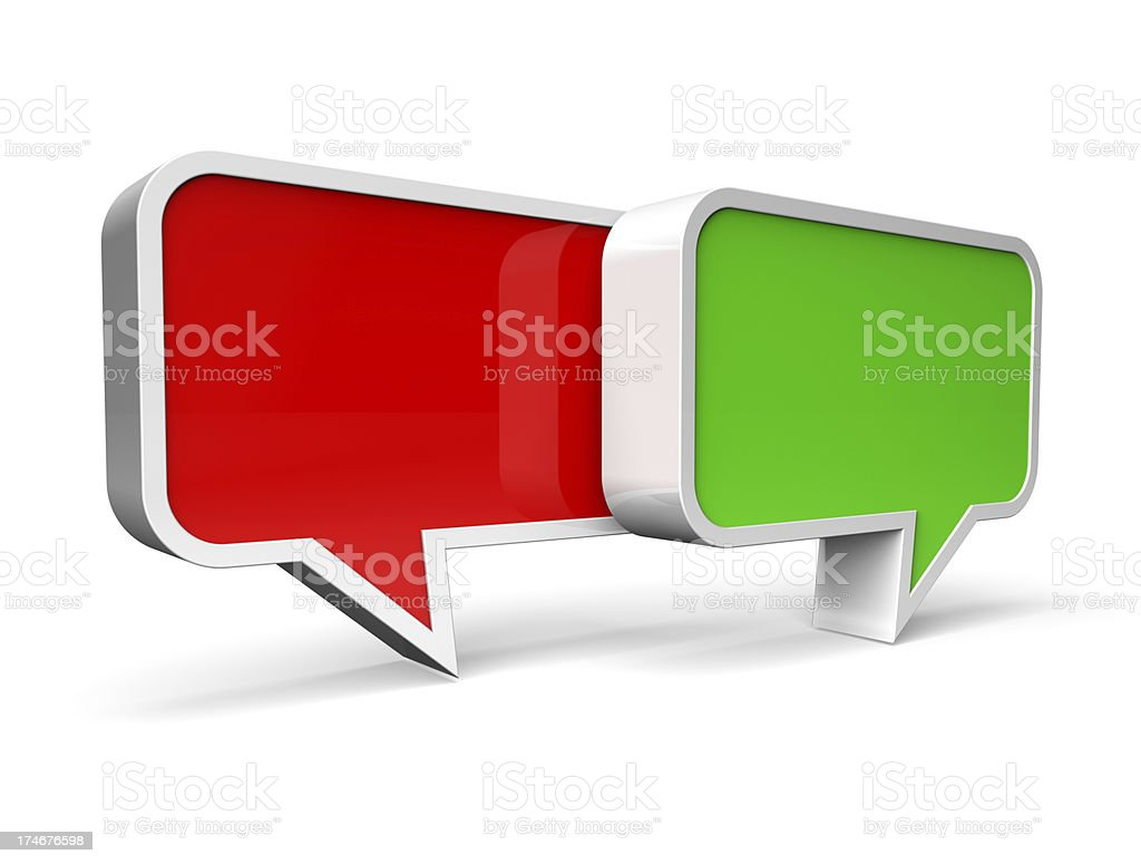 Question/answer, controversy speech bubble concept royalty-free stock photo