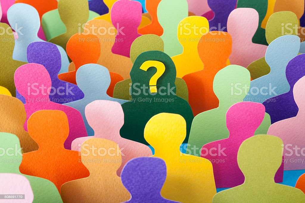 Questioned woman stock photo