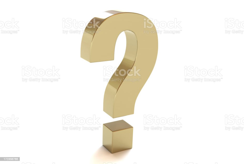 QuestionMarkGold royalty-free stock photo