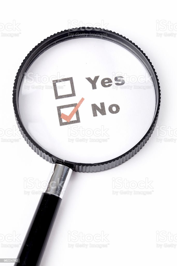 questionnaire and magnifier royalty-free stock photo