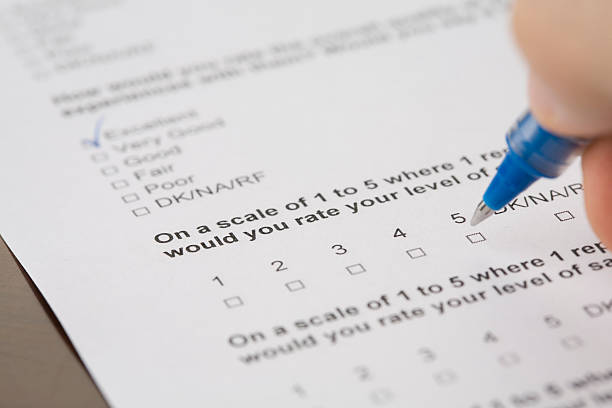 Questionnaire form stock photo