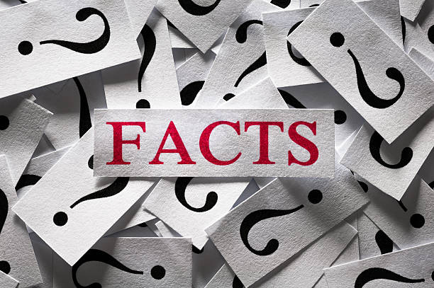 Questions about the Facts stock photo