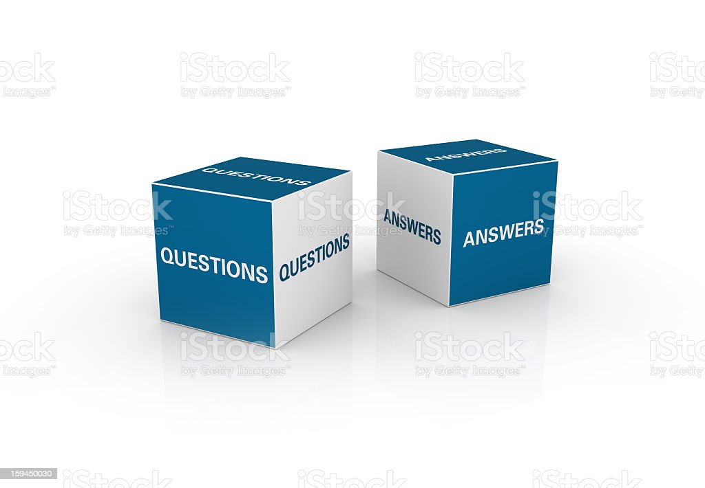 Questions and Answers Cubes. royalty-free stock photo