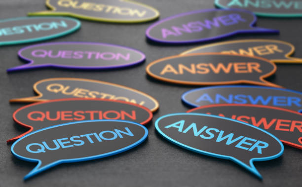 questions and answers. discussion forum - {{relatedsearchurl(carousel.phrase)}} foto e immagini stock