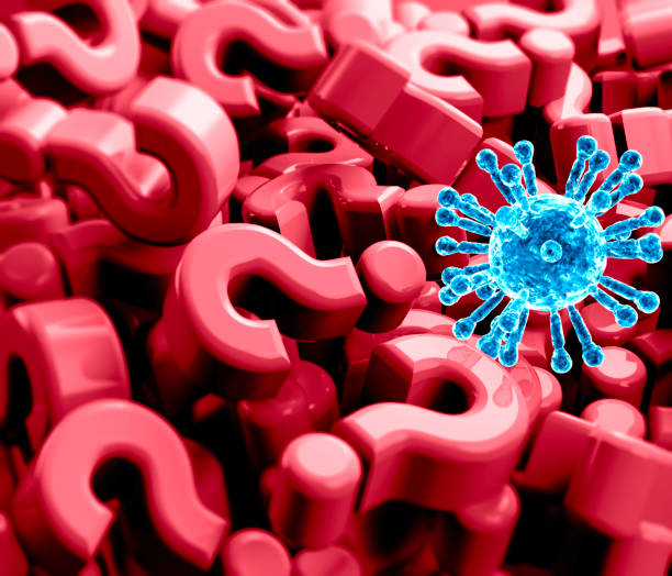 Questions and answers on the coronavirus, Covid-19, all there is to know. Contagion and prevention what to do stock photo