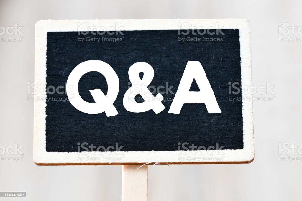 Questions and Answers Q&A concept stock photo