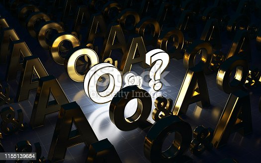 Q and A, Letter Q, Letter A, Question Mark,focus