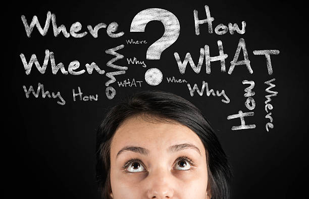 Questions in the young woman's head Questions in the young woman's head high quality studio shot. raised eyebrows stock pictures, royalty-free photos & images