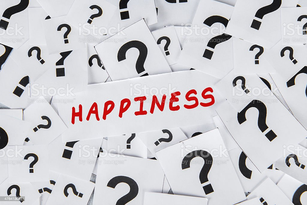 Questions on Happiness stock photo