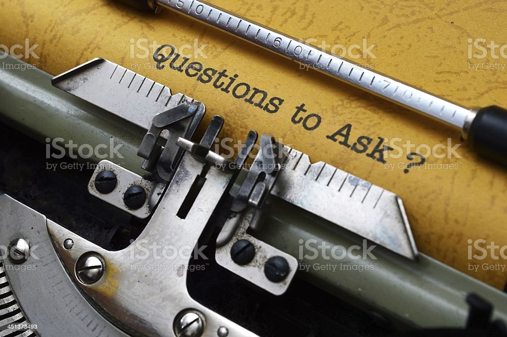 Questions to ask stock photo