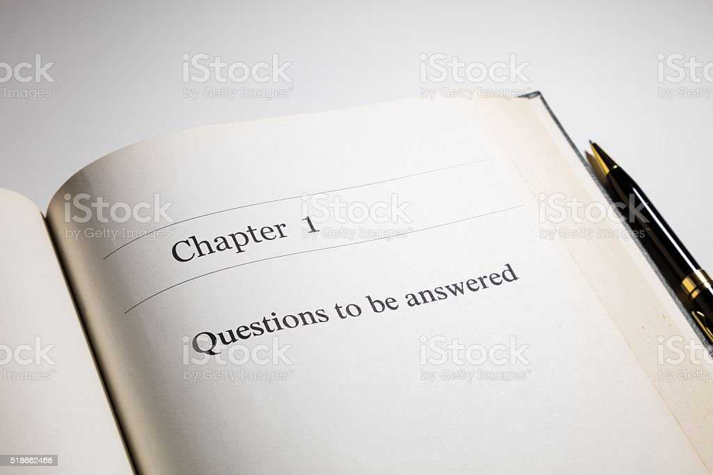 Questions to be answered stock photo