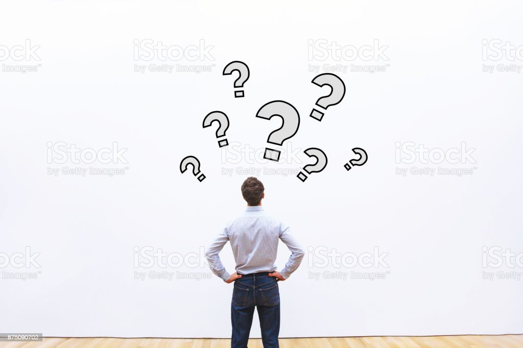 questions without answer stock photo