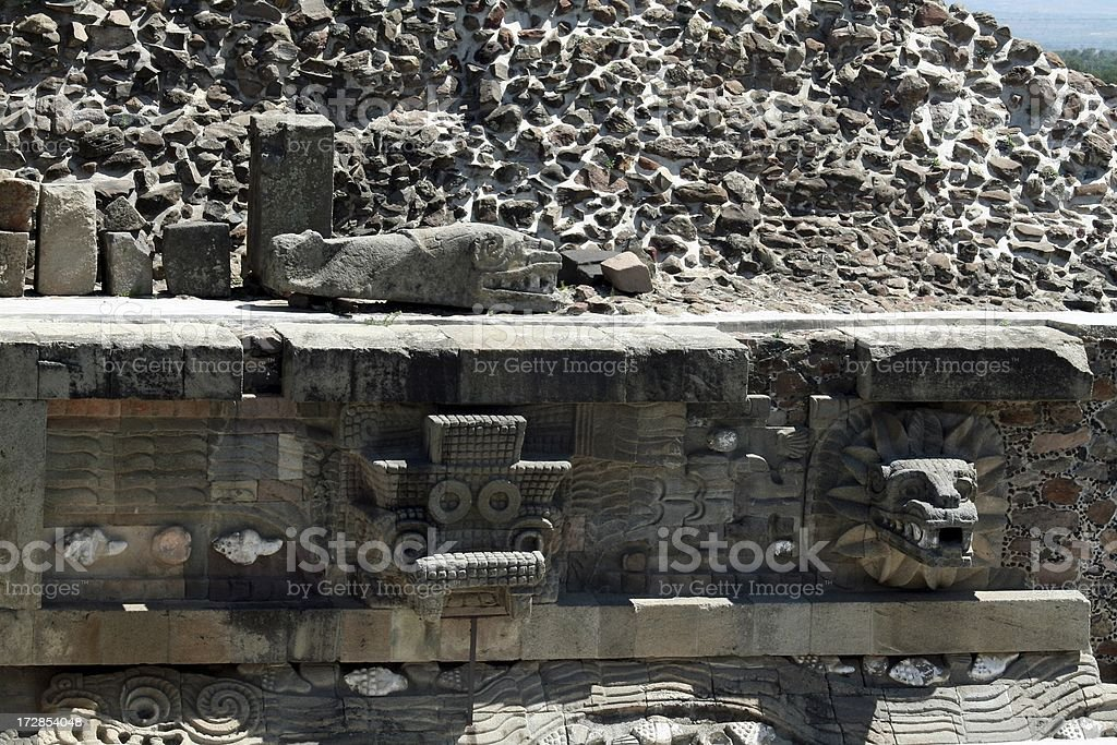 Quetzalcoatl temple royalty-free stock photo