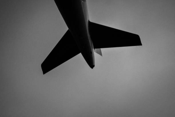 Queue d'avion stock photo