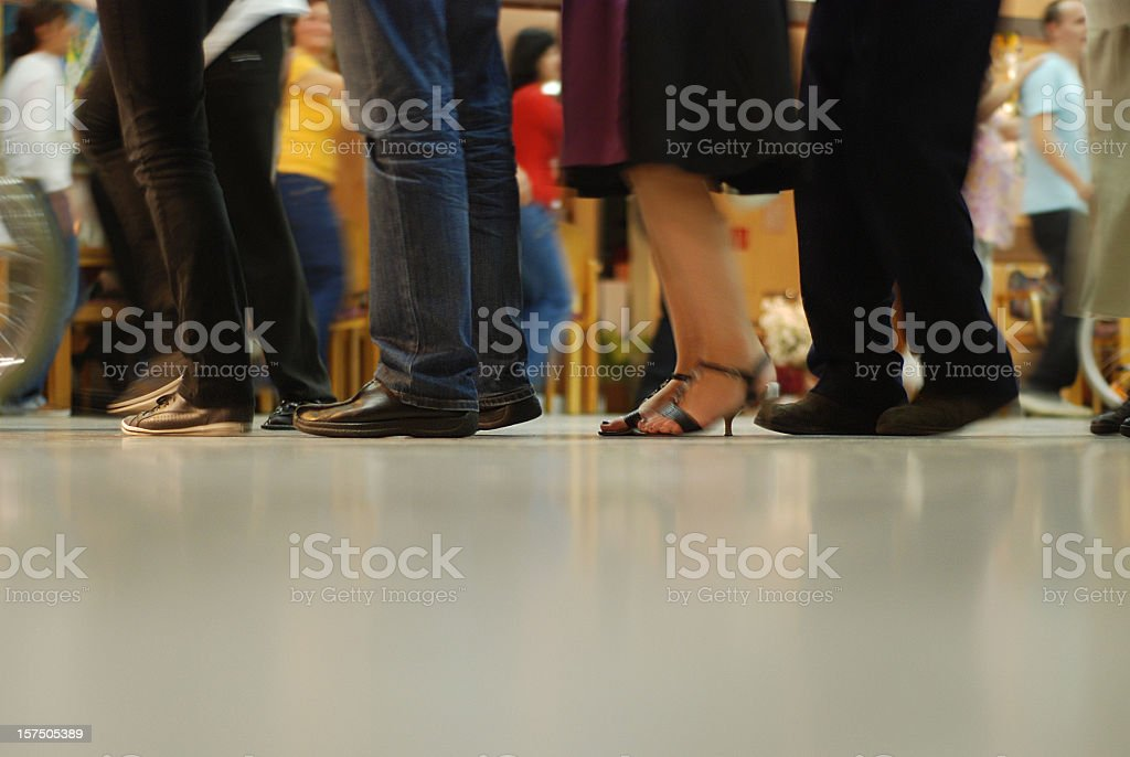 queue - Warteschlange stock photo