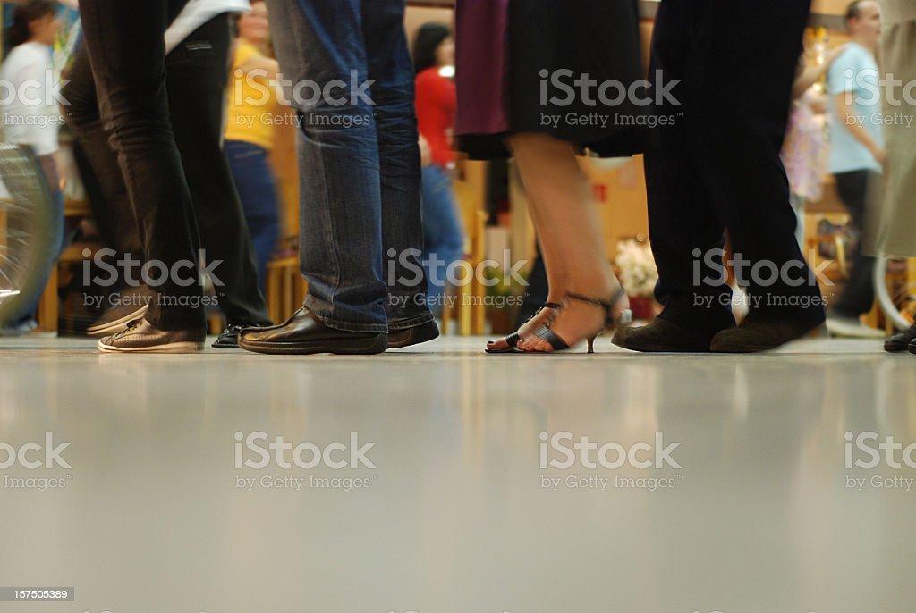 queue - Warteschlange royalty-free stock photo