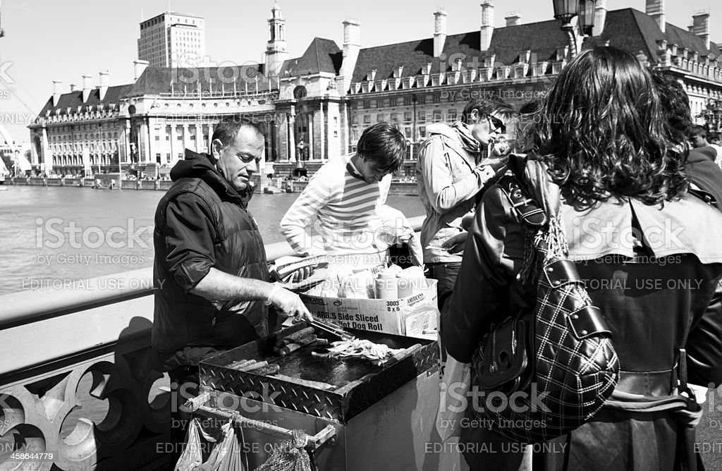 Queueing for a hot dog royalty-free stock photo
