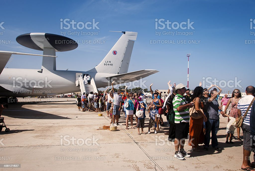 Queueing up royalty-free stock photo
