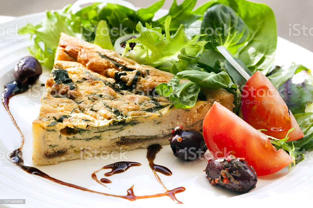 Quiche and Salad royalty-free stock photo