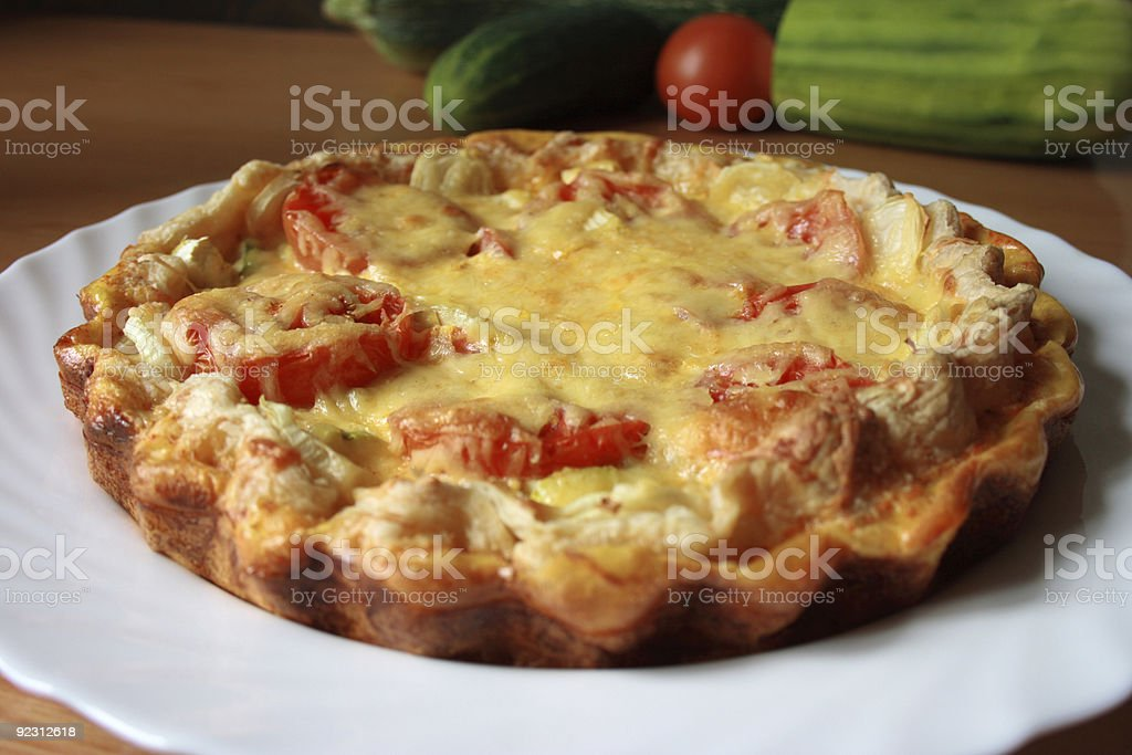Quiche on a Plate stock photo