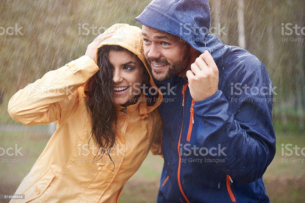 Quick! It started to rain - Royalty-free Aanhankelijk Stockfoto