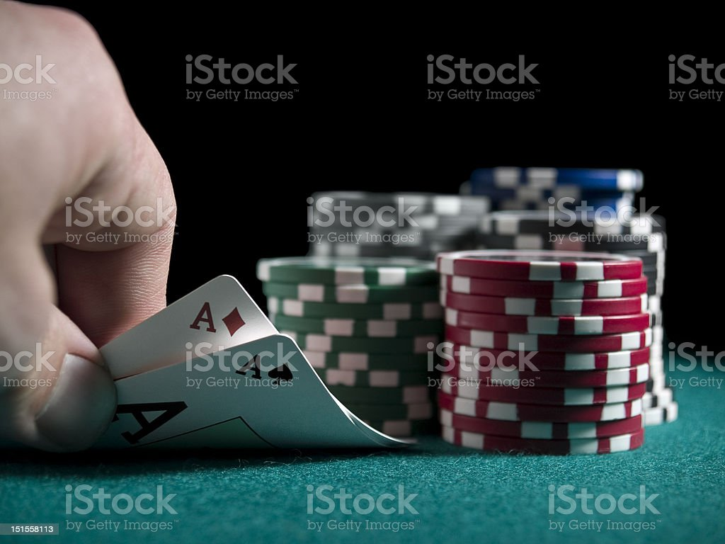 Quick look at the cards stock photo
