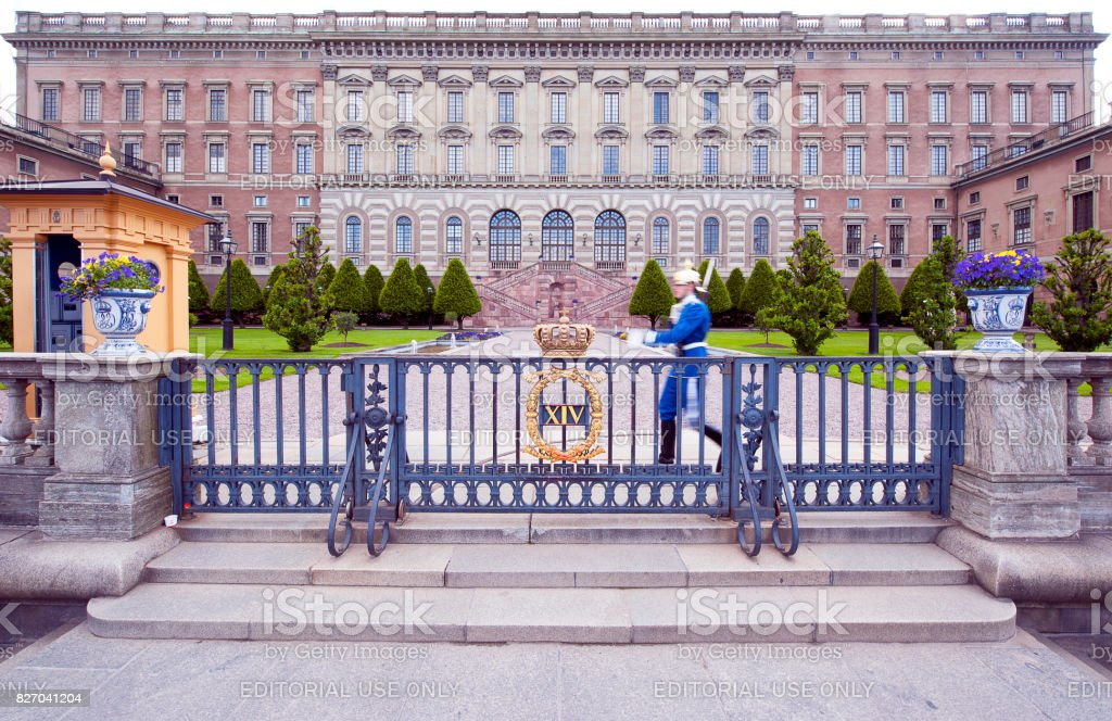 Quick march, Royal Palace, Stockholm, Sweden stock photo