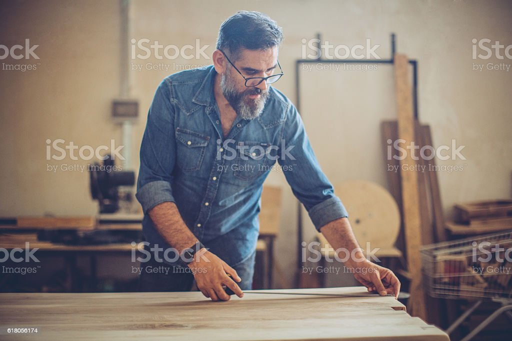 Quick measurements stock photo