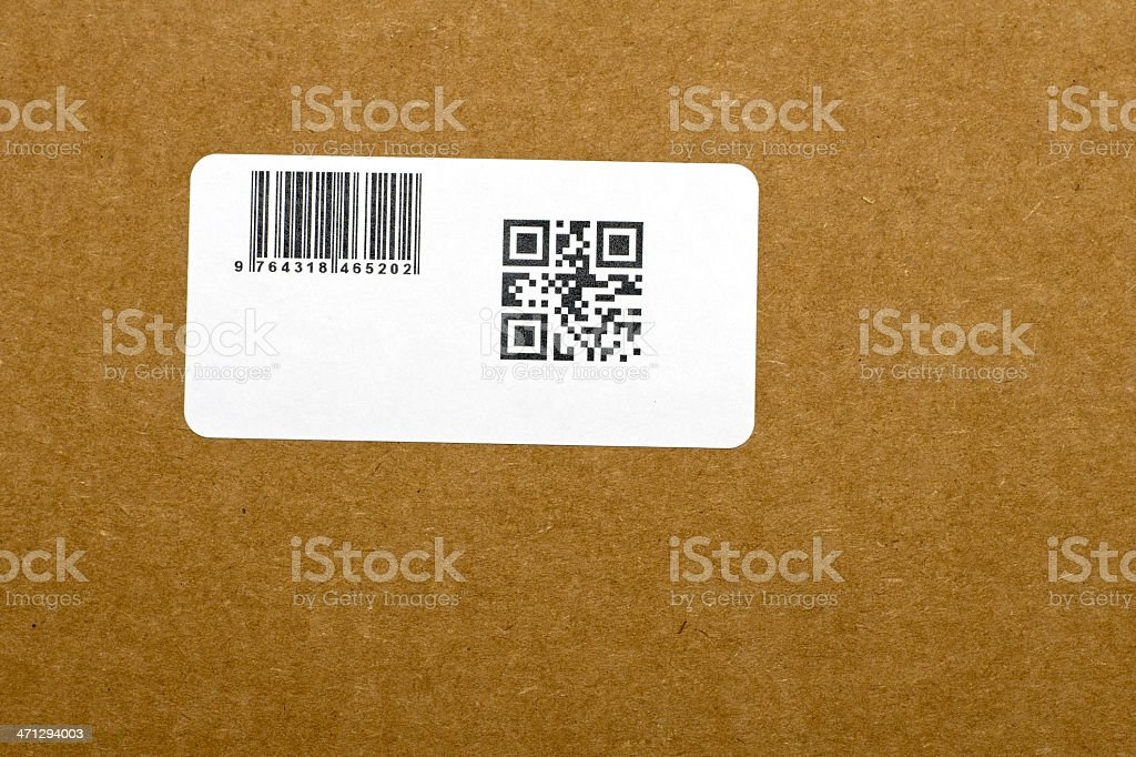 Quick Response Code and Barcode stock photo