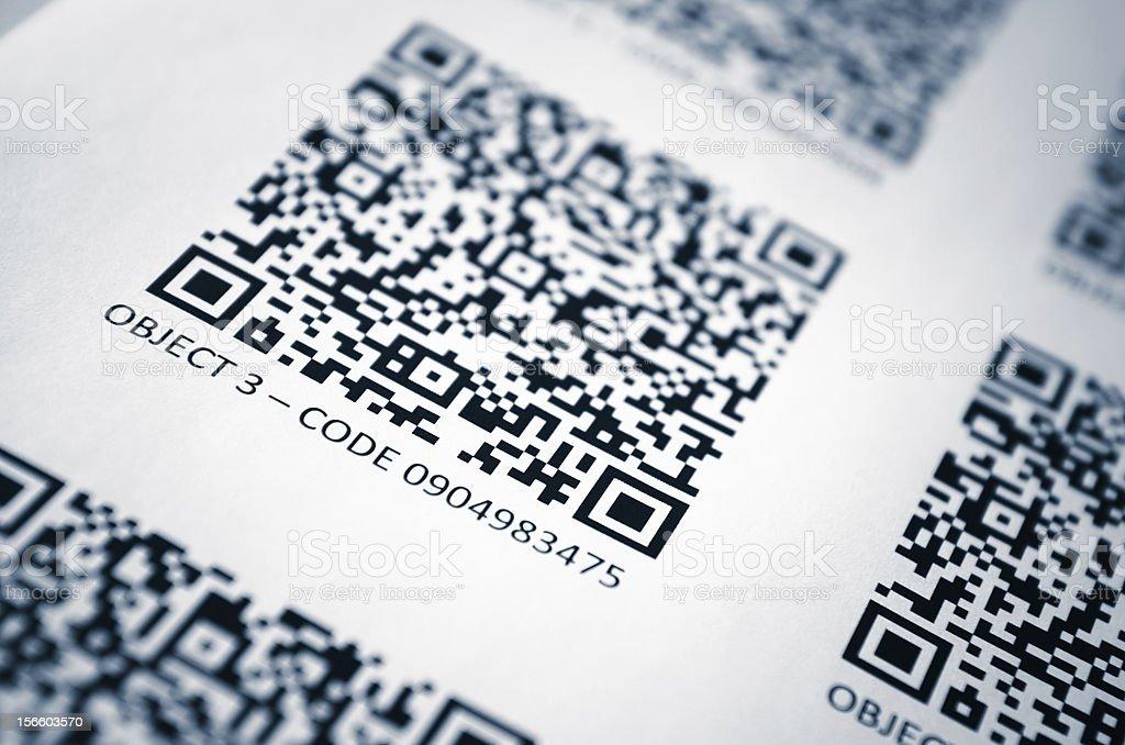 Quick response code - QR stock photo