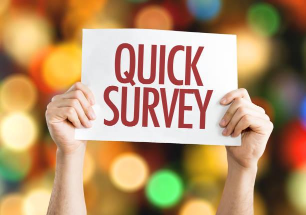 Quick Survey stock photo