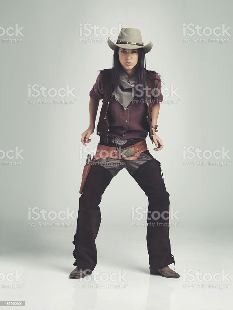 Quickest draw in the west stock photo