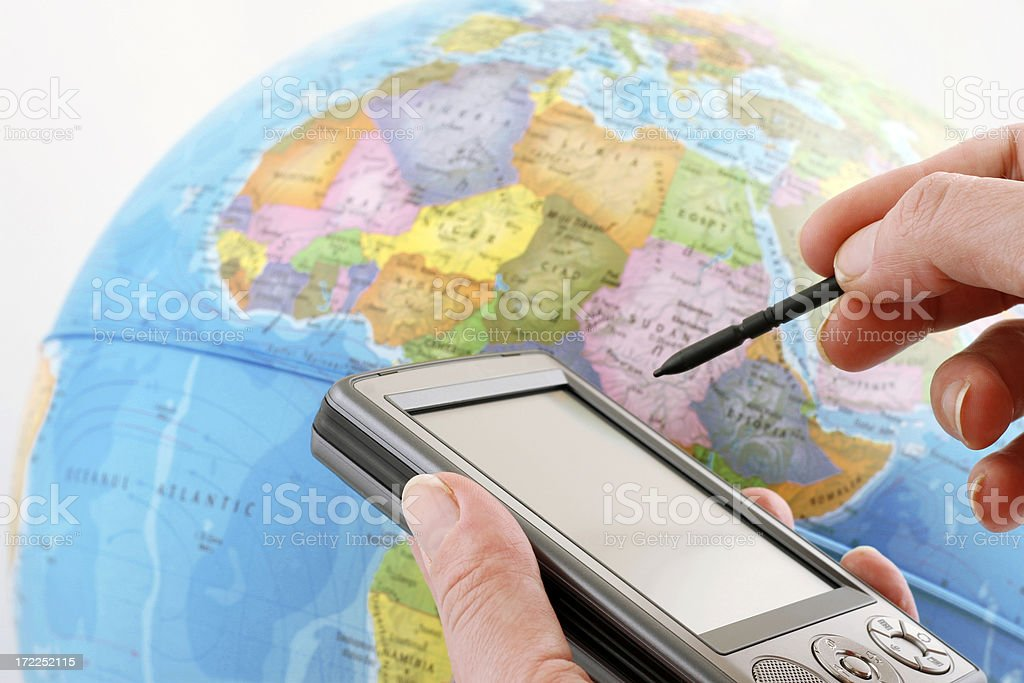 Quickly around the world royalty-free stock photo