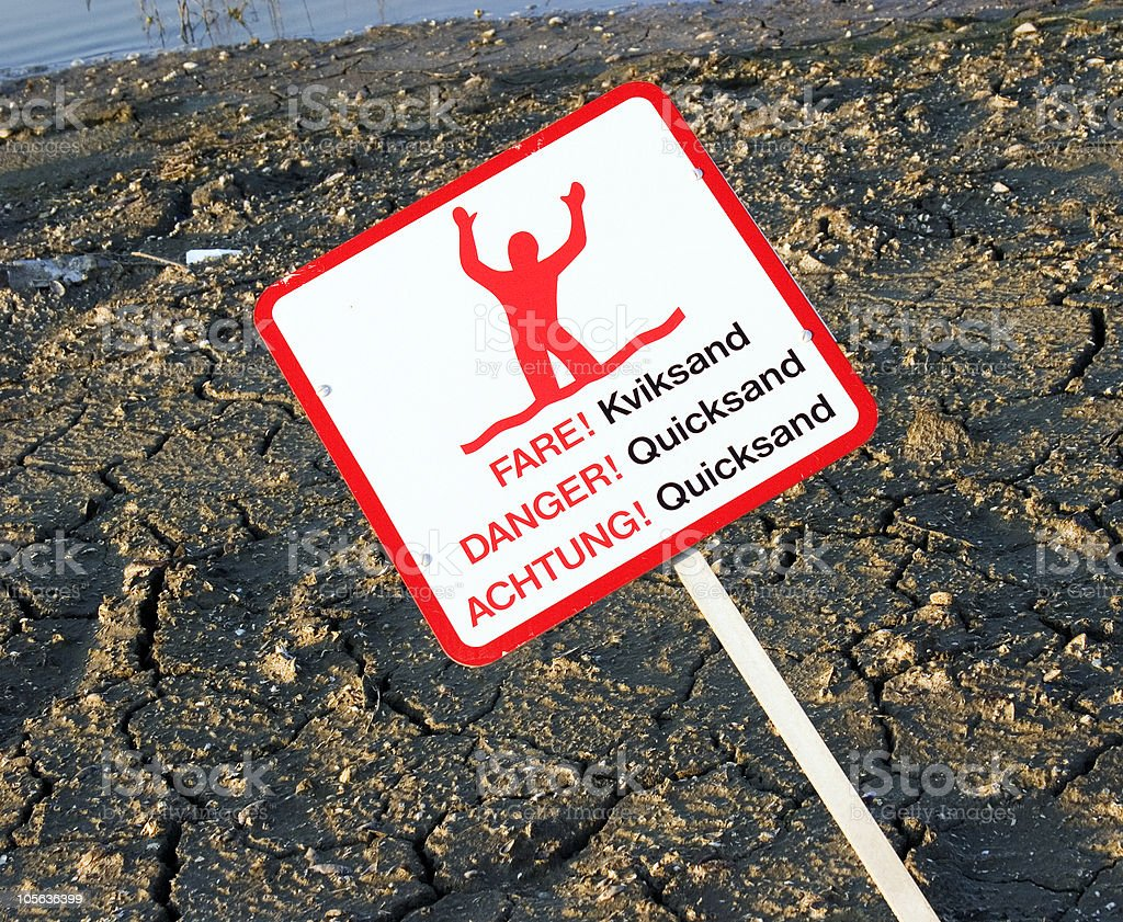 Quicksand royalty-free stock photo