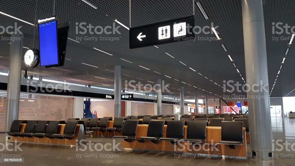 A quiet airport stock photo