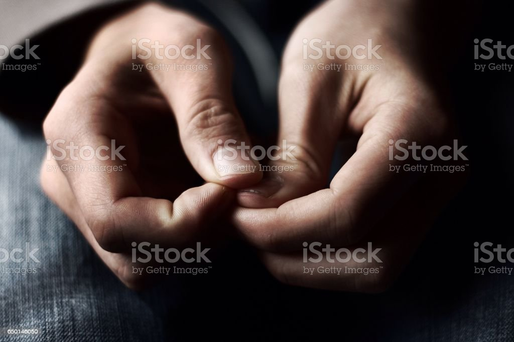 Quiet Anxiety stock photo