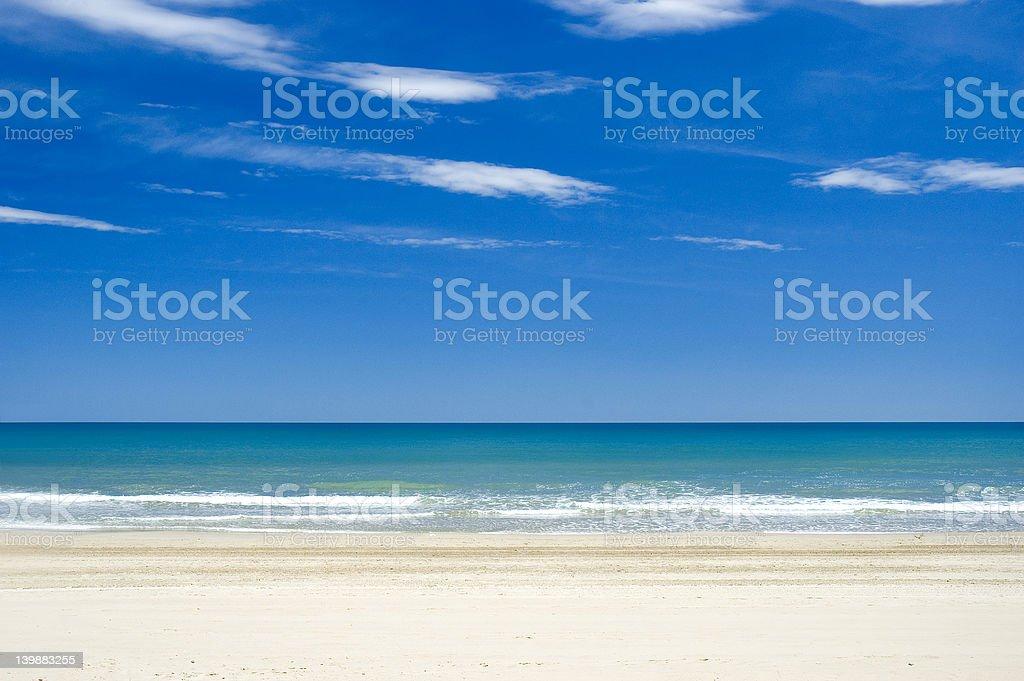 quiet beach royalty-free stock photo