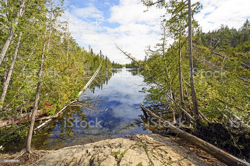 Quiet Channel in Canoe Country stock photo