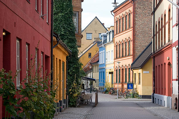 Ruhige city street, Malmö, Schweden – Foto