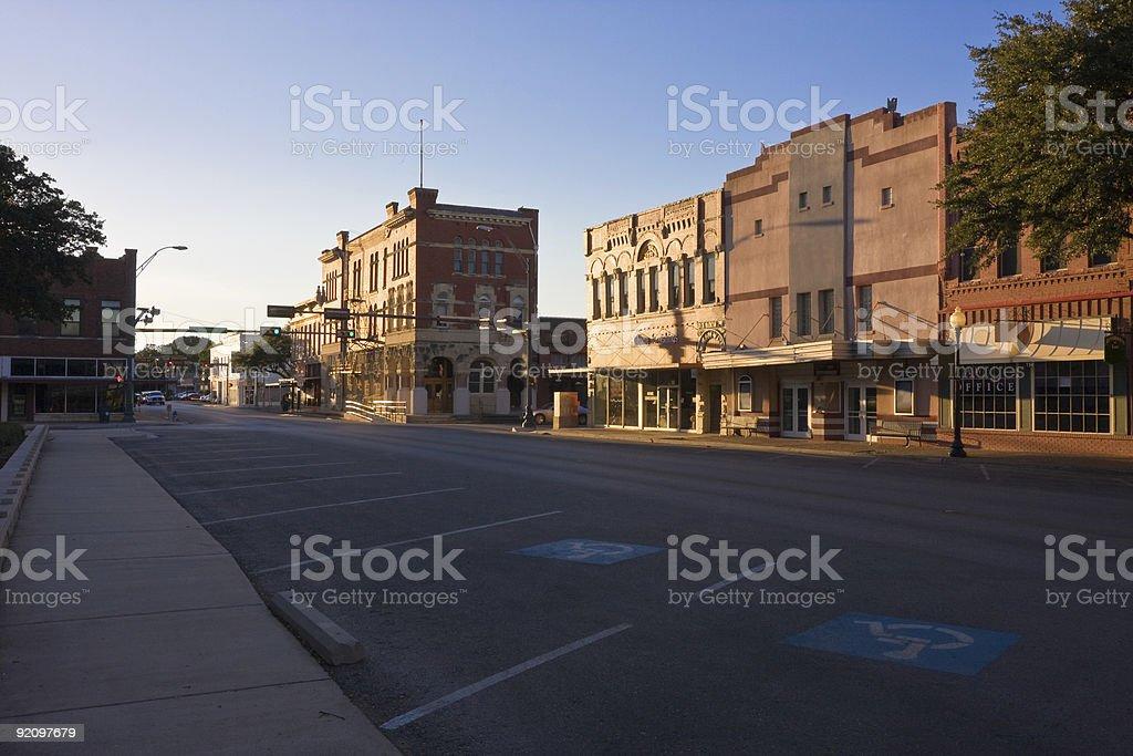 Quiet City Street Scene royalty-free stock photo