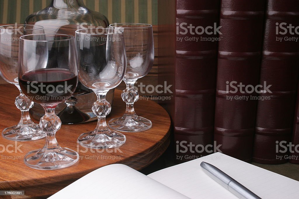 quiet contemplation of journal royalty-free stock photo