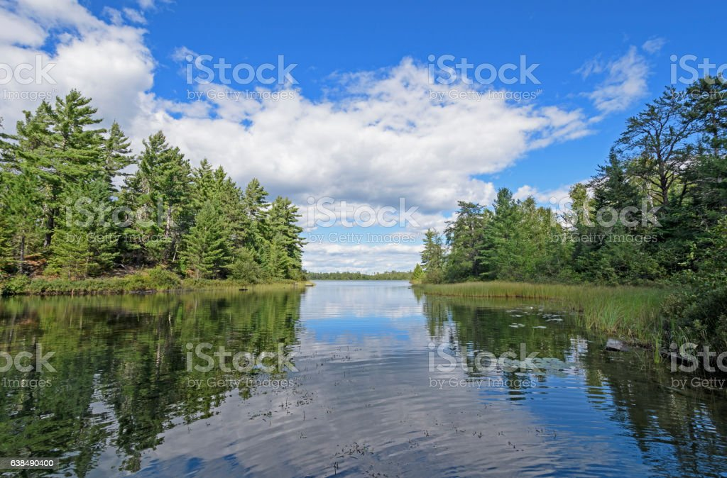 Quiet Cove in Canoe Country stock photo