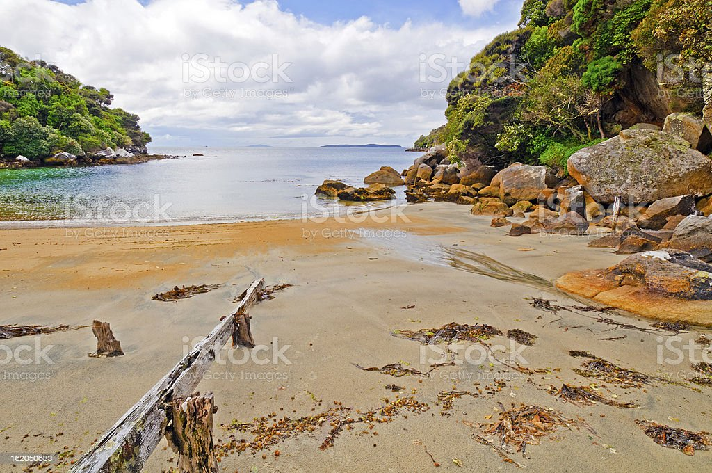 Quiet Cove on the Ocean stock photo