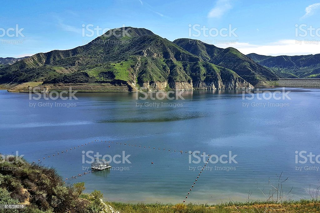 Quiet Day At Lake Piru California Stock Photo & More Pictures of